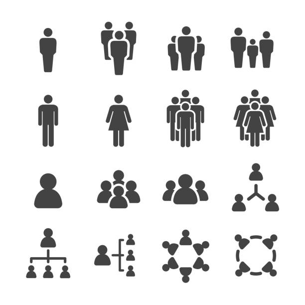 people icon people icon set,vector illustration icon stock illustrations