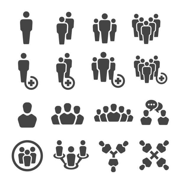 people icon people icon set person icon stock illustrations