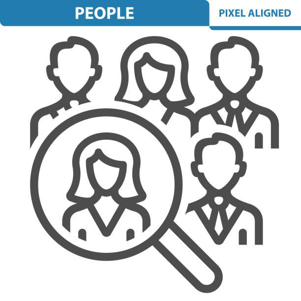 illustrazioni stock, clip art, cartoni animati e icone di tendenza di people icon - focus group