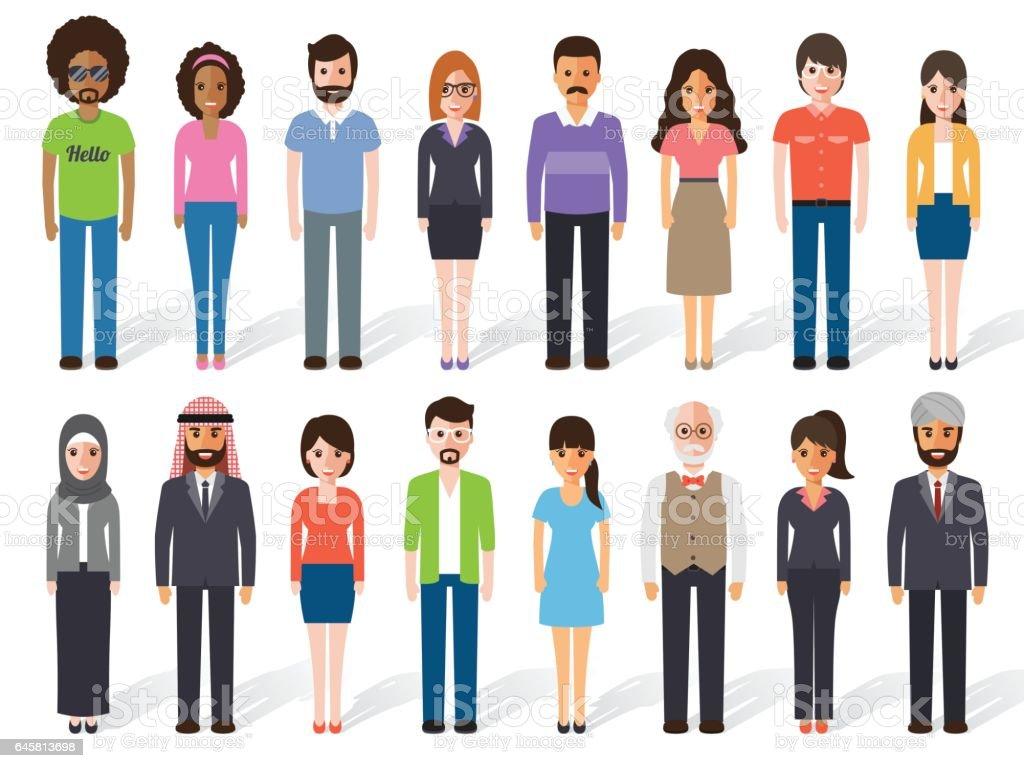 people icon-09 vector art illustration
