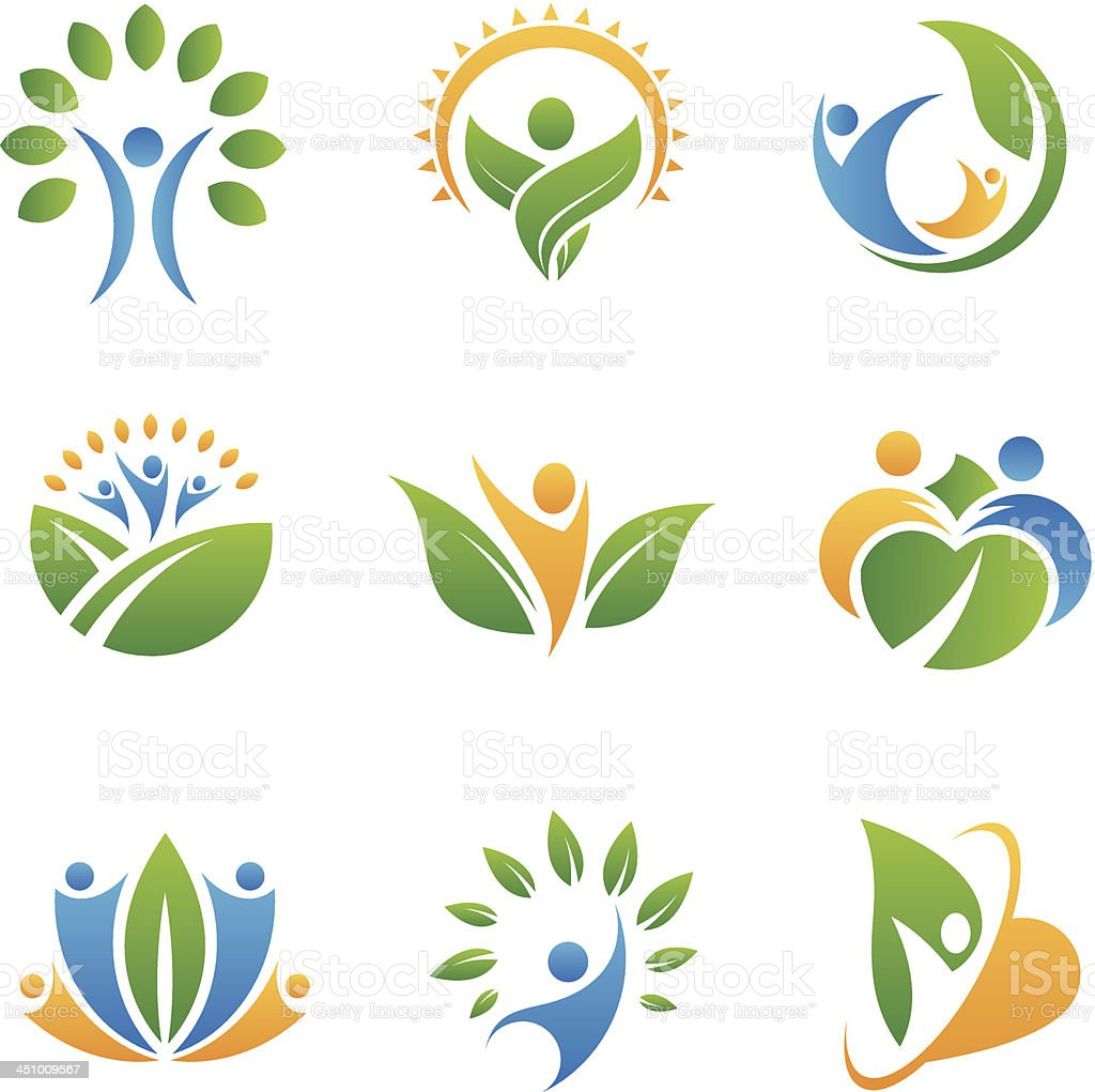 Icônes et logos de personnes - Illustration vectorielle
