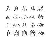 istock People Icons - Classic Line Series 1195004827