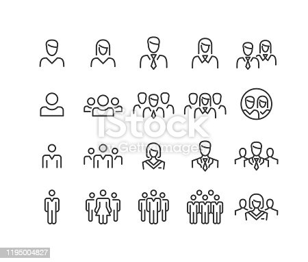 istock People Icons - Classic Line Series 1195004827