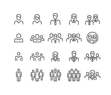 People Icons - Classic Line Series