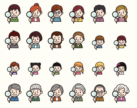 People icons - Magnifying glass