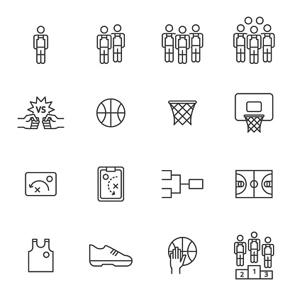 People Icons , march madness basketball vector illustration