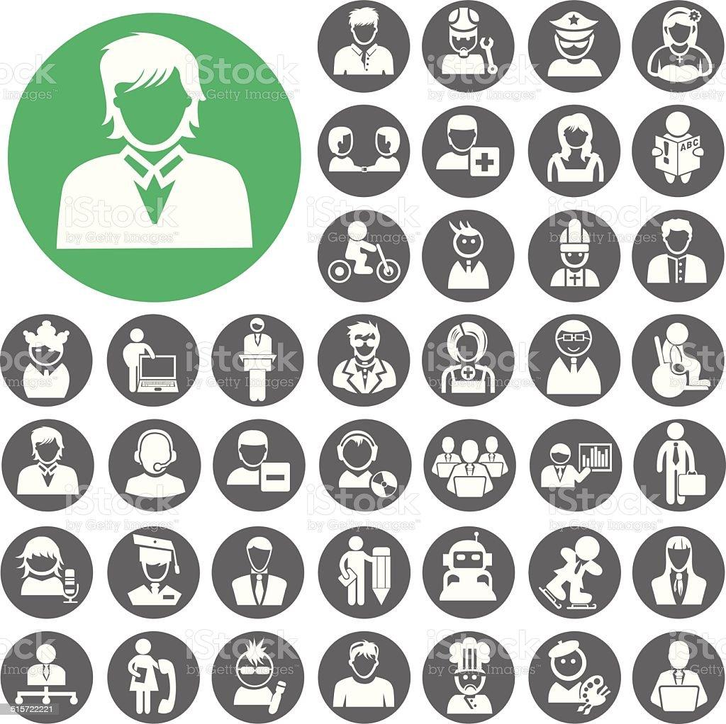 Menschen Icons set.  Illustration eps10 – Vektorgrafik