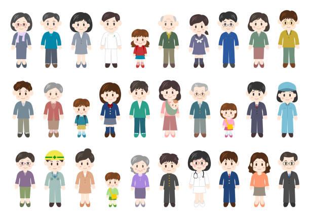 人のアイコンを設定します。 - 家族 日本点のイラスト素材/クリップアート素材/マンガ素材/アイコン素材