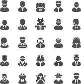 People and profession icons set