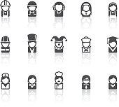 People Icons | Simple Black Series