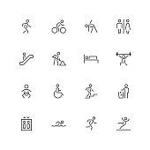 People Icons - Unique  - Line Series Vector EPS File.