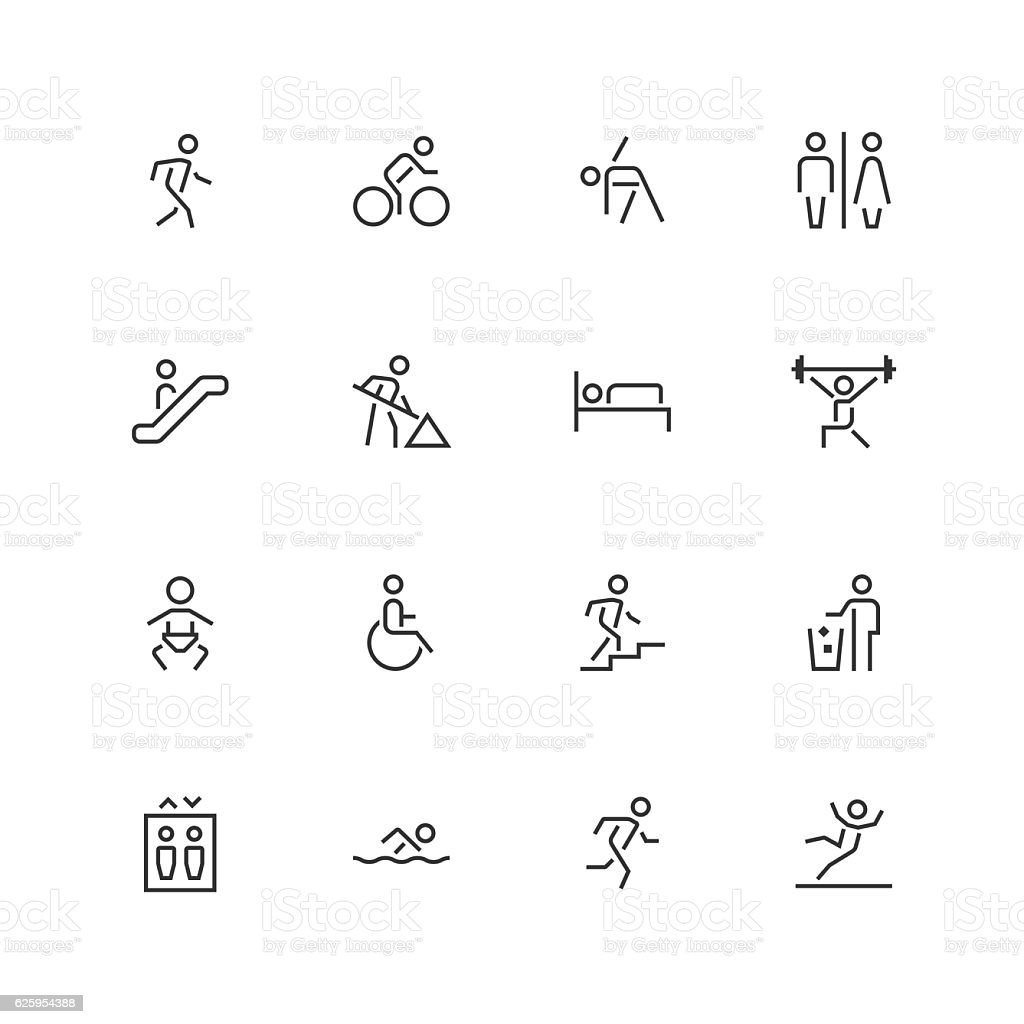 People Icons - Unique  - Line Series - ilustración de arte vectorial
