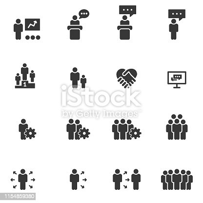 People Icons Vector , Business  Person Work Group Team Vector Illustration