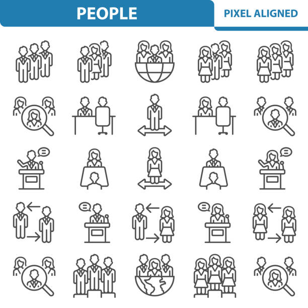 people icons - travel agent stock illustrations, clip art, cartoons, & icons