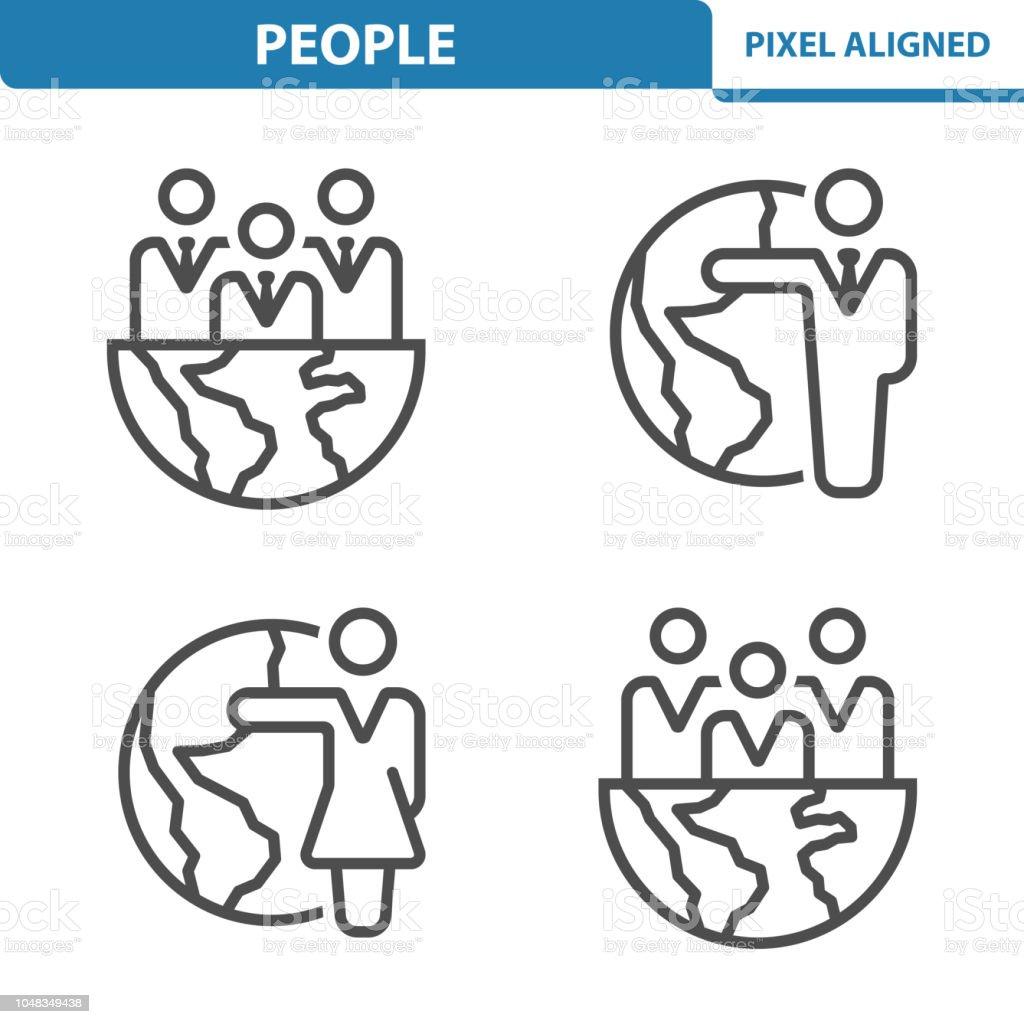 People Icons vector art illustration