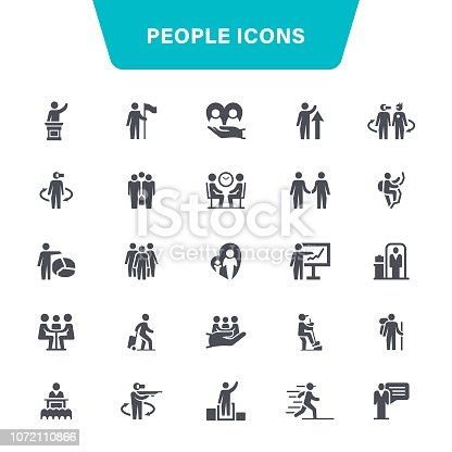 Motivation, People, Infographic, Connection, Icon Set