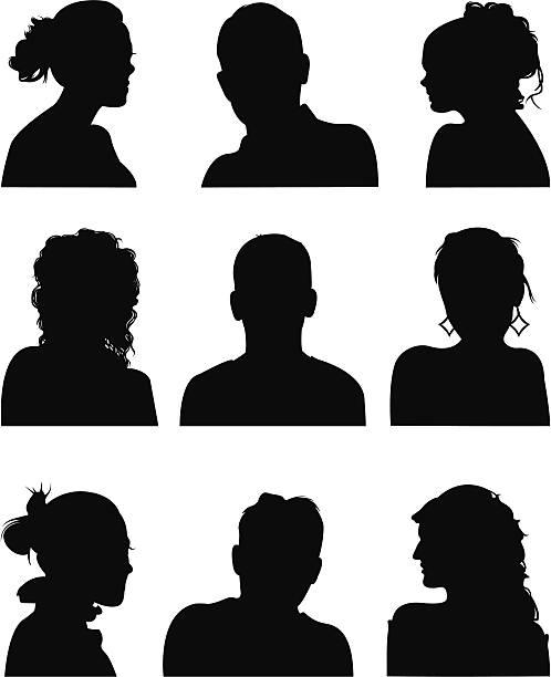 ilustraciones, imágenes clip art, dibujos animados e iconos de stock de iconos de personas - cabello largo