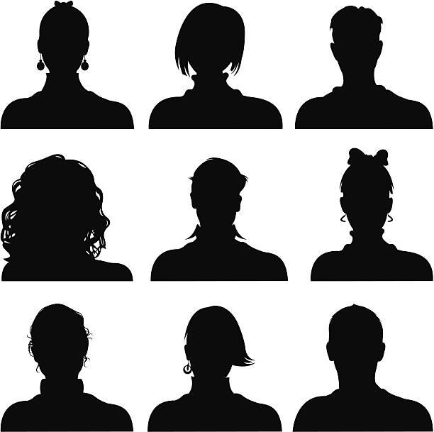 people icons - 捲髮 幅插畫檔、美工圖案、卡通及圖標