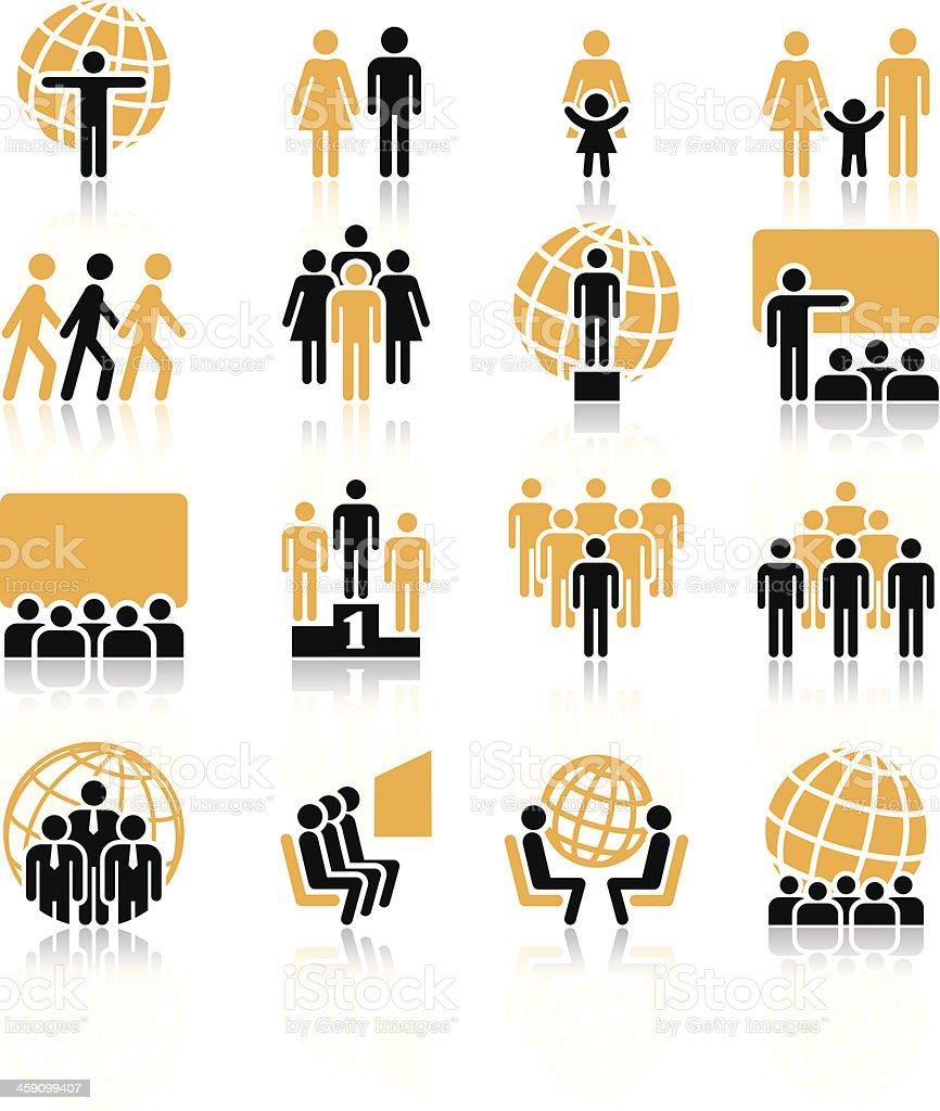 People, icons vector art illustration