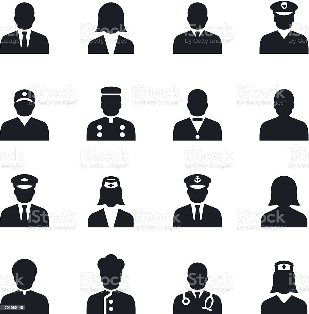 People Icons vector art illustration
