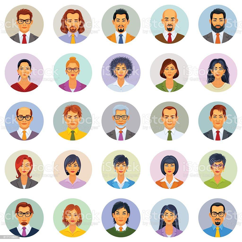 Iconos de personas - ilustración de arte vectorial