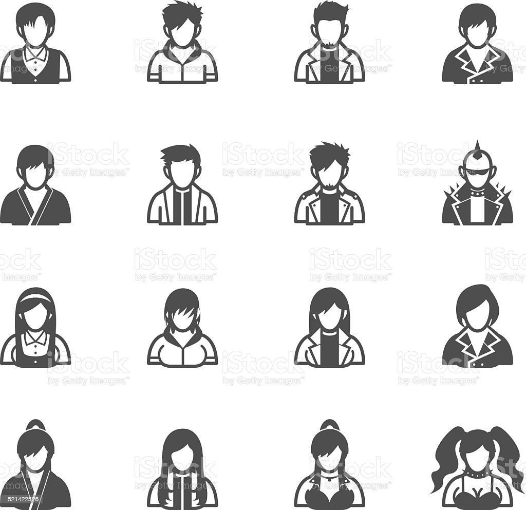 Menschen Symbole – Vektorgrafik