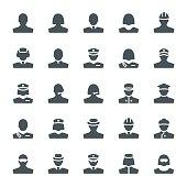 Black & white avatars