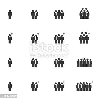 People Icons Vector , Person Work Group Team Vector Illustration