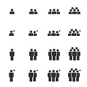 People Icons Work Group Team Business Vector , Crowd of People