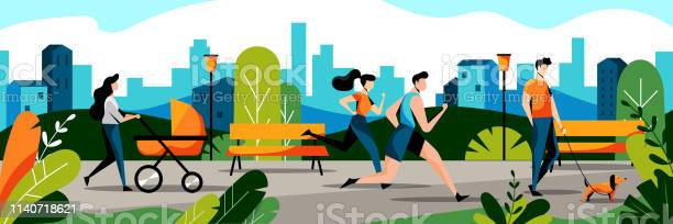 People in city park vector flat illustration jogging couple and mom vector id1140718621?b=1&k=6&m=1140718621&s=612x612&h=t5kkdz03e1l zuh03r1n65jvpxnghynx7eumx3udevc=