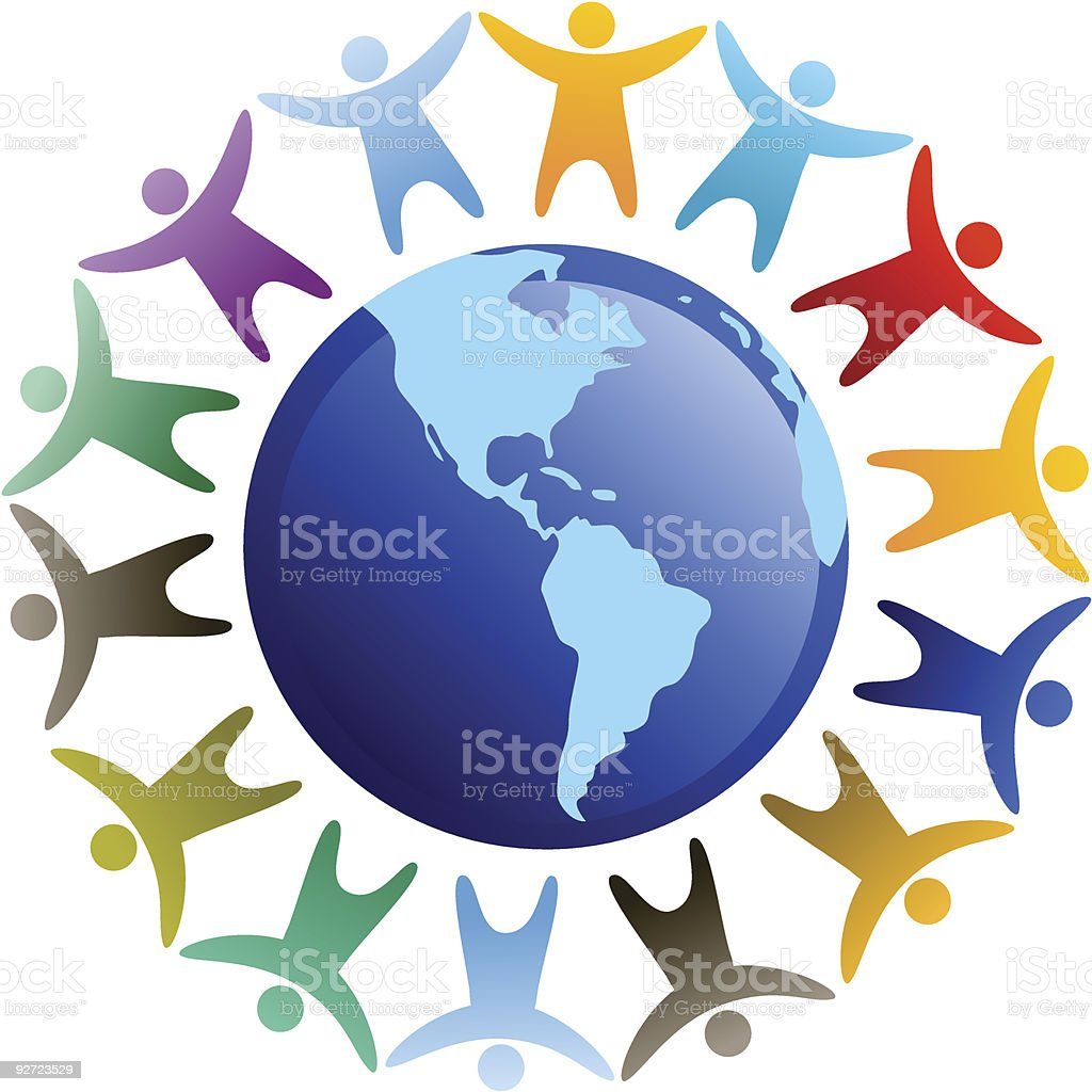 People in diversity vector art illustration