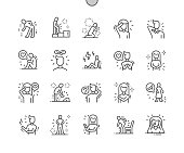 istock People in pain Well-crafted Pixel Perfect Vector Thin Line Icons 30 2x Grid for Web Graphics and Apps. Simple Minimal Pictogram 1177594868