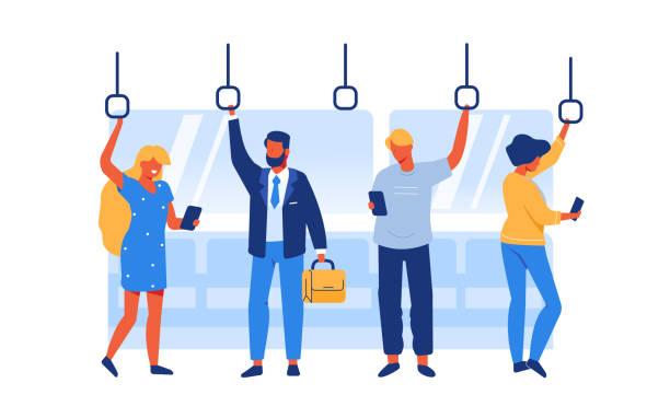 illustrations, cliparts, dessins animés et icônes de personnes dans le métro - passager