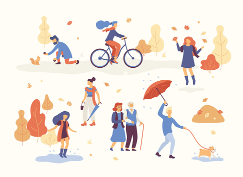 fall lifestyle stock illustrations