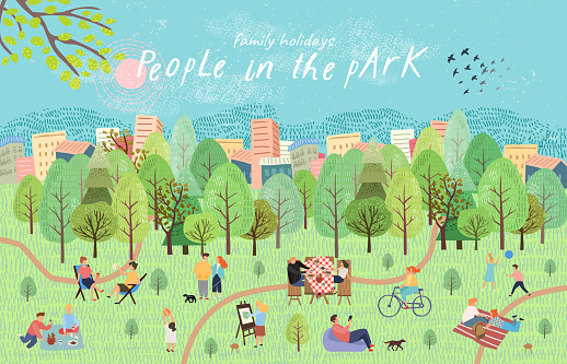 summer lifestyle stock illustrations