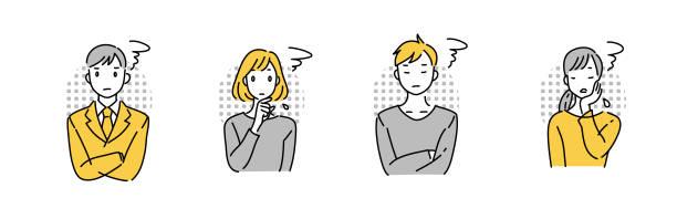 困っている人 - 不安点のイラスト素材/クリップアート素材/マンガ素材/アイコン素材
