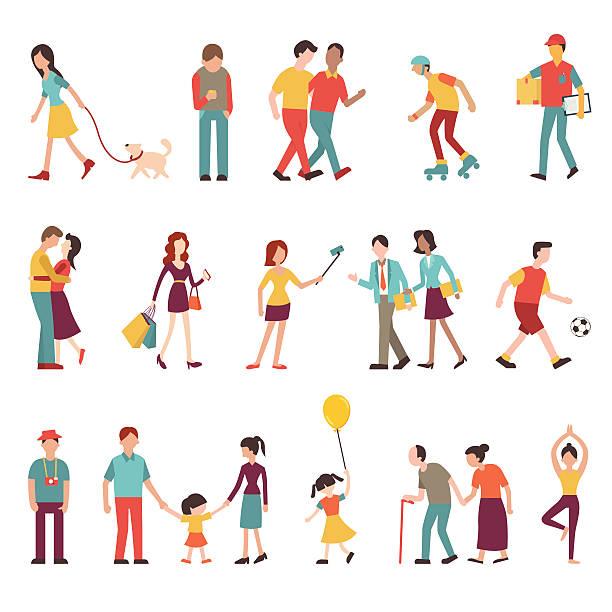 bildbanksillustrationer, clip art samt tecknat material och ikoner med people in various lifestyles - senior walking