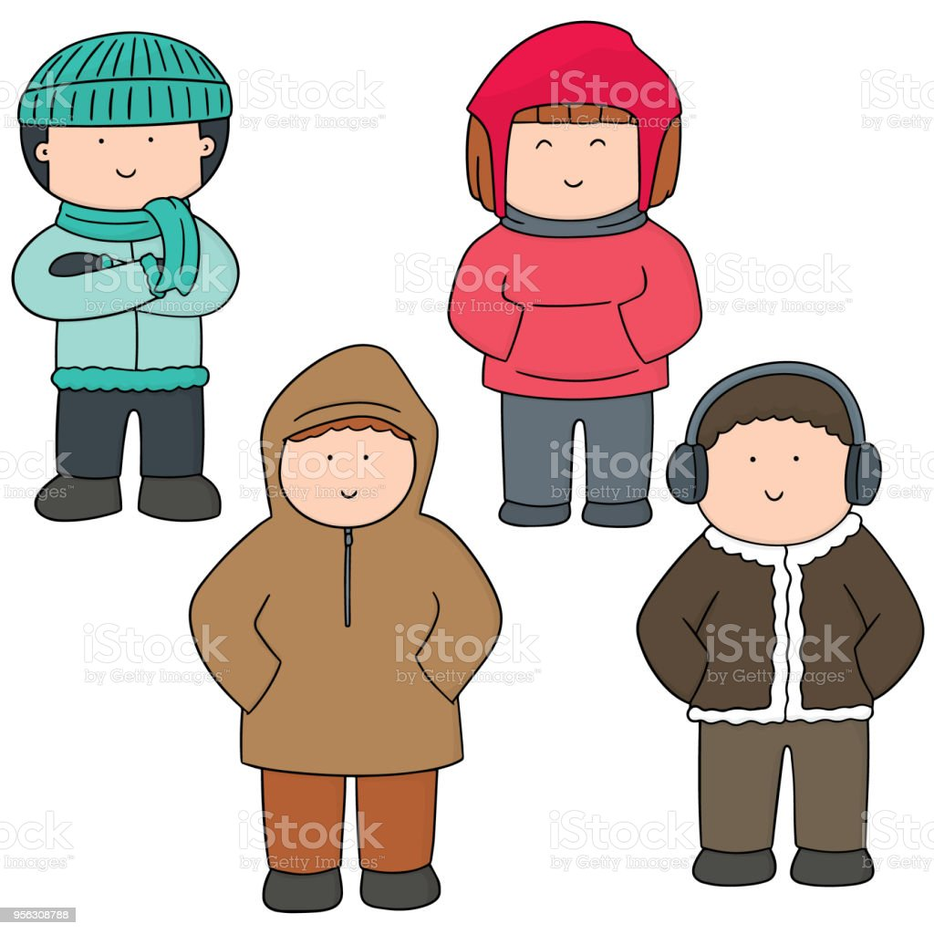 c8486e638e1c people in winter clothes royalty-free people in winter clothes stock vector  art  amp