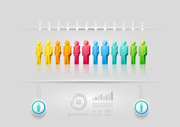 люди инфографика дизайн шаблон - орфографический знак stock illustrations