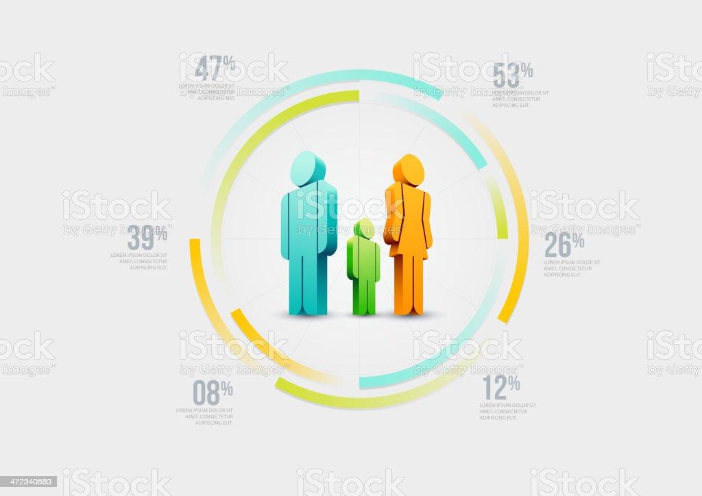 People infographic design template vector art illustration