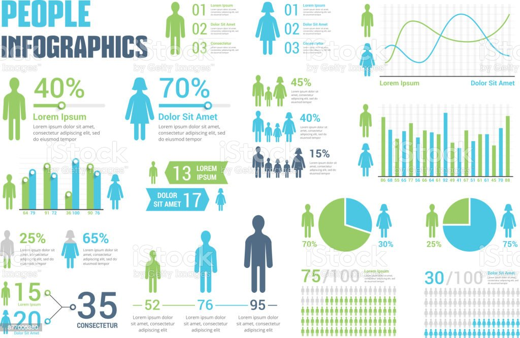 People Infographics vector art illustration