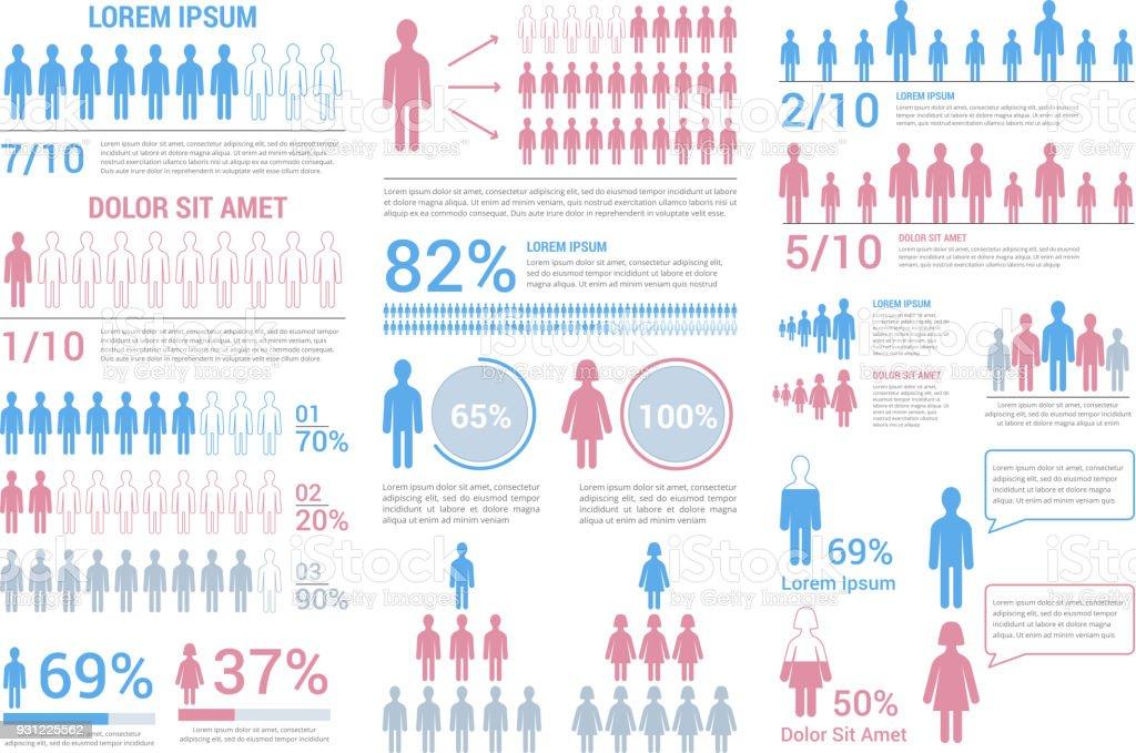 Personas infografías - ilustración de arte vectorial