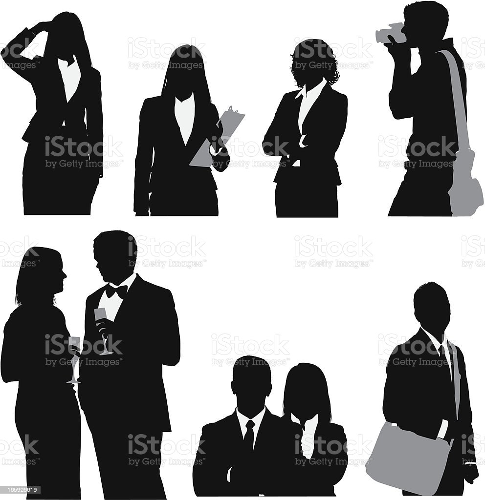 People involved in various activities vector art illustration