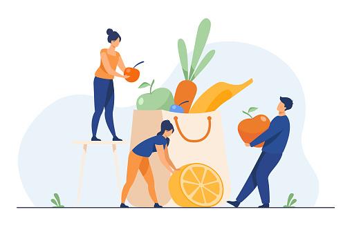 People keeping healthy diet