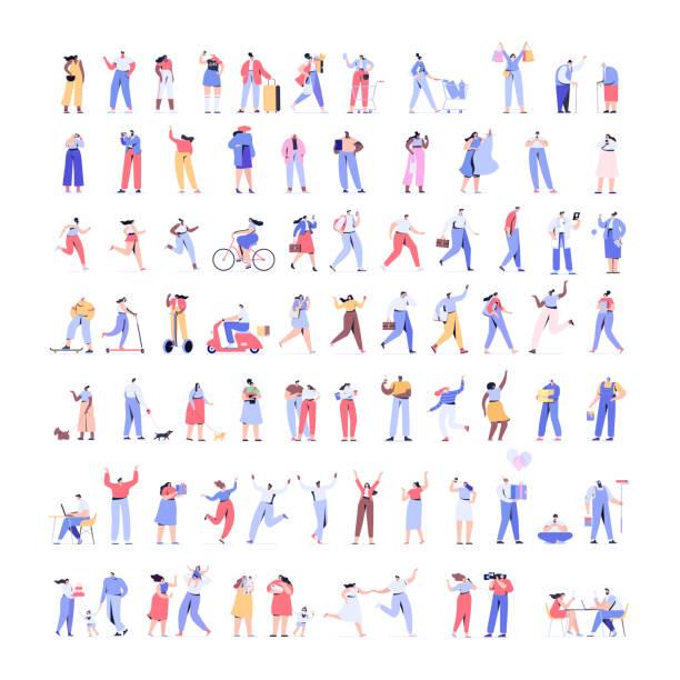 人員套件-第1部分。人群的人巨大的向量集。 - modern office 幅插畫檔、美工圖案、卡通及圖標