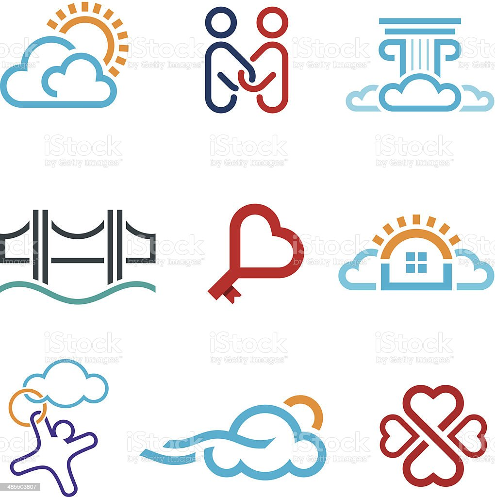 People know no limits in creativity creation app icon set vector art illustration