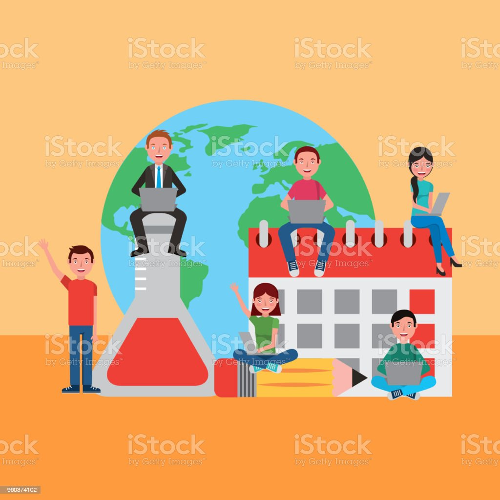 People Learning Education Related Stock Illustration Download Image Now Istock