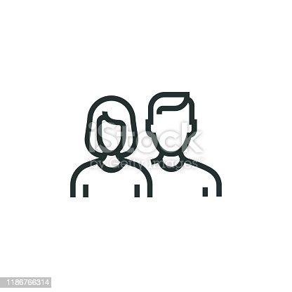 istock People Line Icon 1186766314