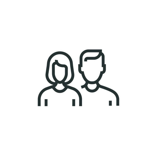 people line icon - мужчины stock illustrations
