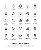 People Line Icons Vector EPS 10 File, Pixel Perfect Icons.